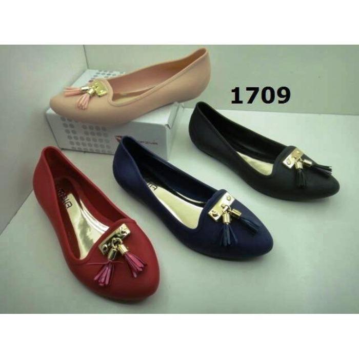 Rp 63.500. Hokky Jelly Shoes / Sepatu jelly Wanita / Jelly shoes 15858 / sepatu cewek jelly wedges barabara ...