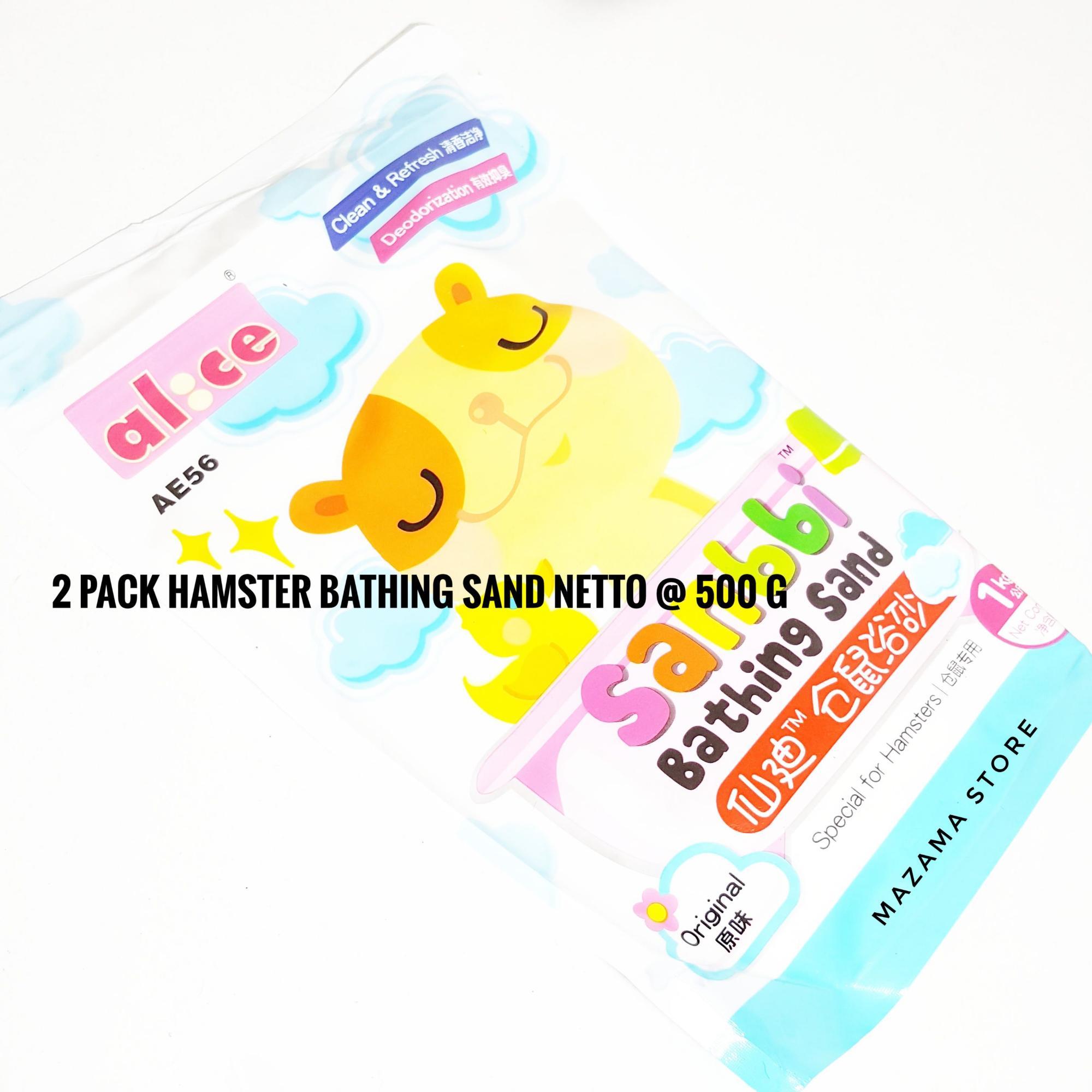 2 Pack Alice Sanbbi Bathing Sand Netto 500 g Original Scent / Hamster Sand / Pasir