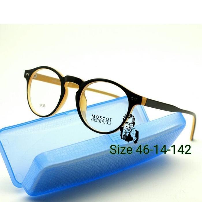 Kacamata Moscot 3439 Caramel Frame Kacamata Baca Pria - ready stock