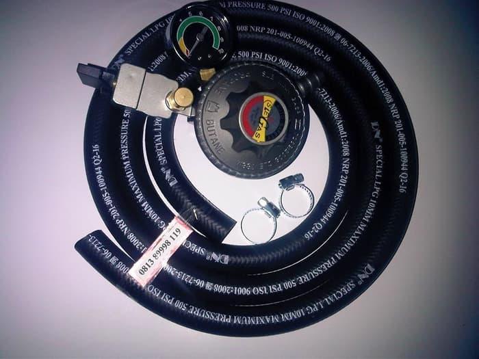 Promo Regulator Gas Pertamina SLE 788 Meter Selang LPG 500 PSI Anti Meledak Original