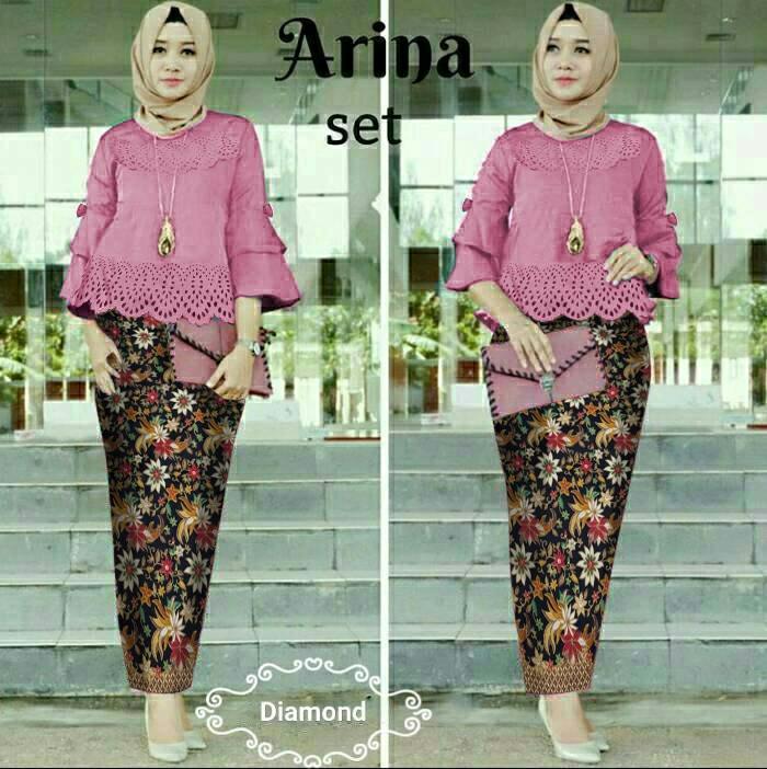 Princess Wardrobe - Setelan Batik Arina / Setelan Kebaya / Busana Muslim / Busana Muslimah