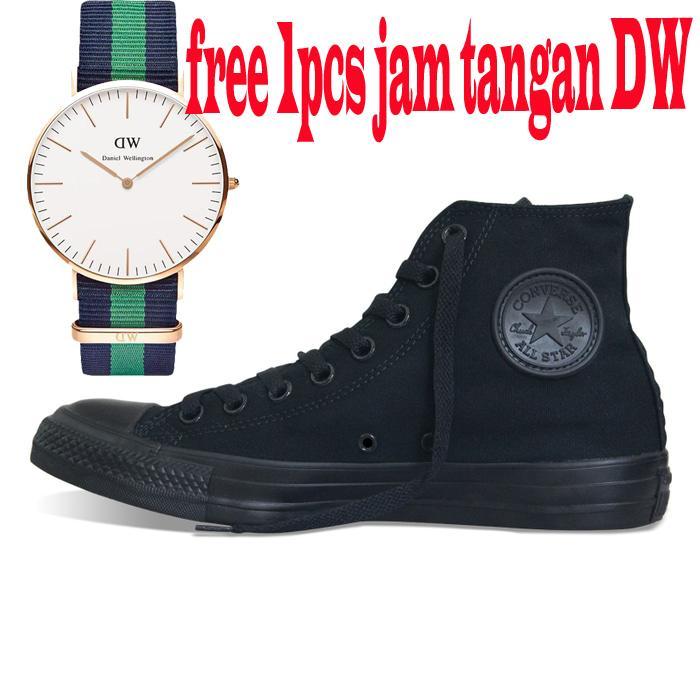 COD Sepatu Converse All star Tinggi | High | Hight Free 1PCS Jam Tangan DW