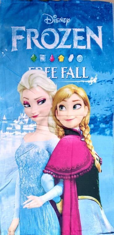 Handuk Karakter Anak Microfiber Ukuran 50x100 - Frozen