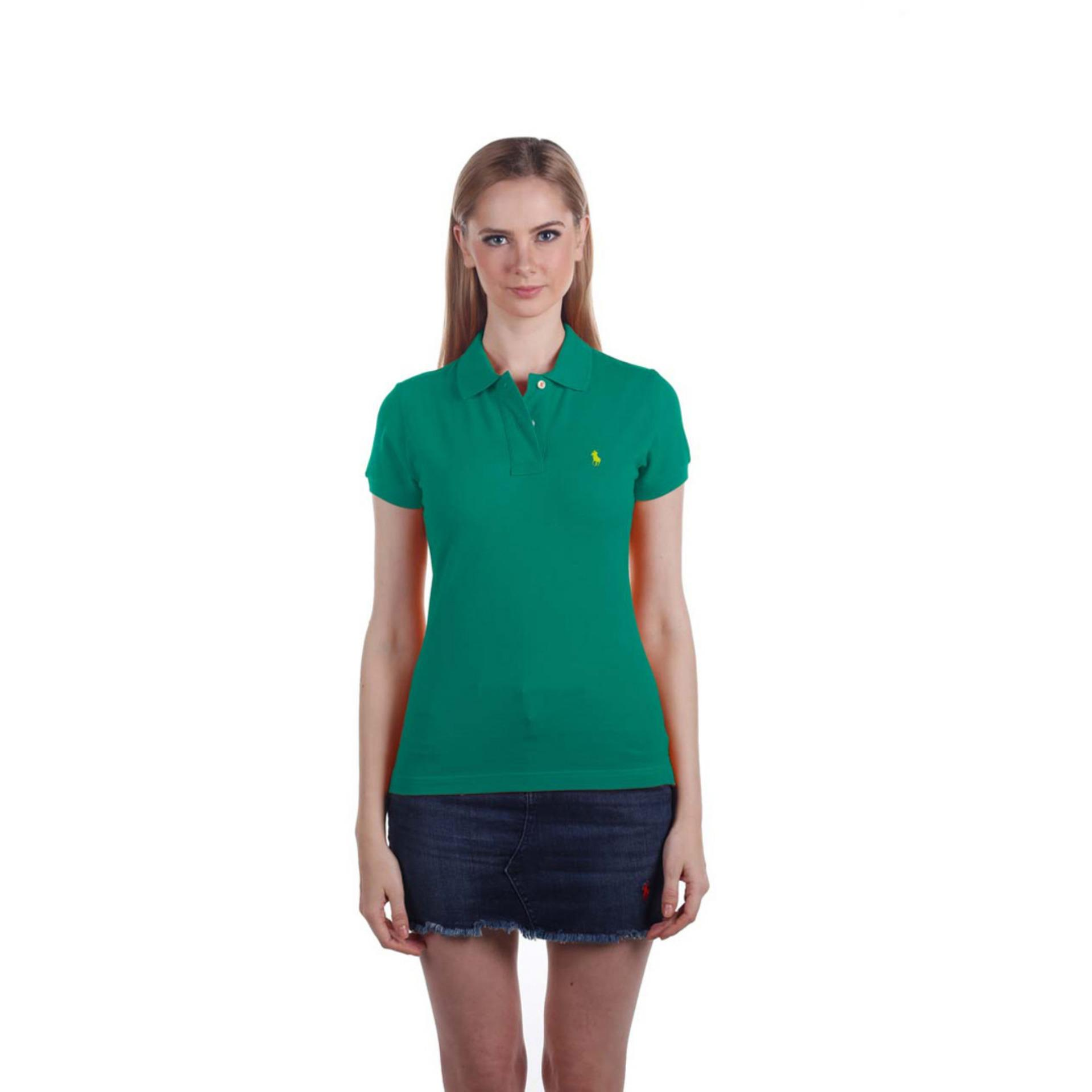 POLO RALPH LAUREN - POLO SHIRT CLASSIC FIT S/S EMERALD GREEN LADIES