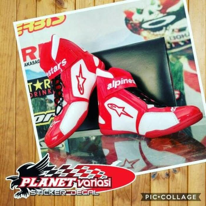 Sepatu Alpinestar Drag And Touring Merah Putih