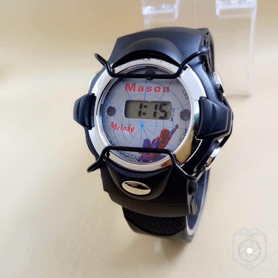 Anti-Air Pria Anak Laki-laki Digital LED Kuarsa Alarm Tanggal Olahraga Pergelangan Tangan Jam Tangan Bu-Internasional