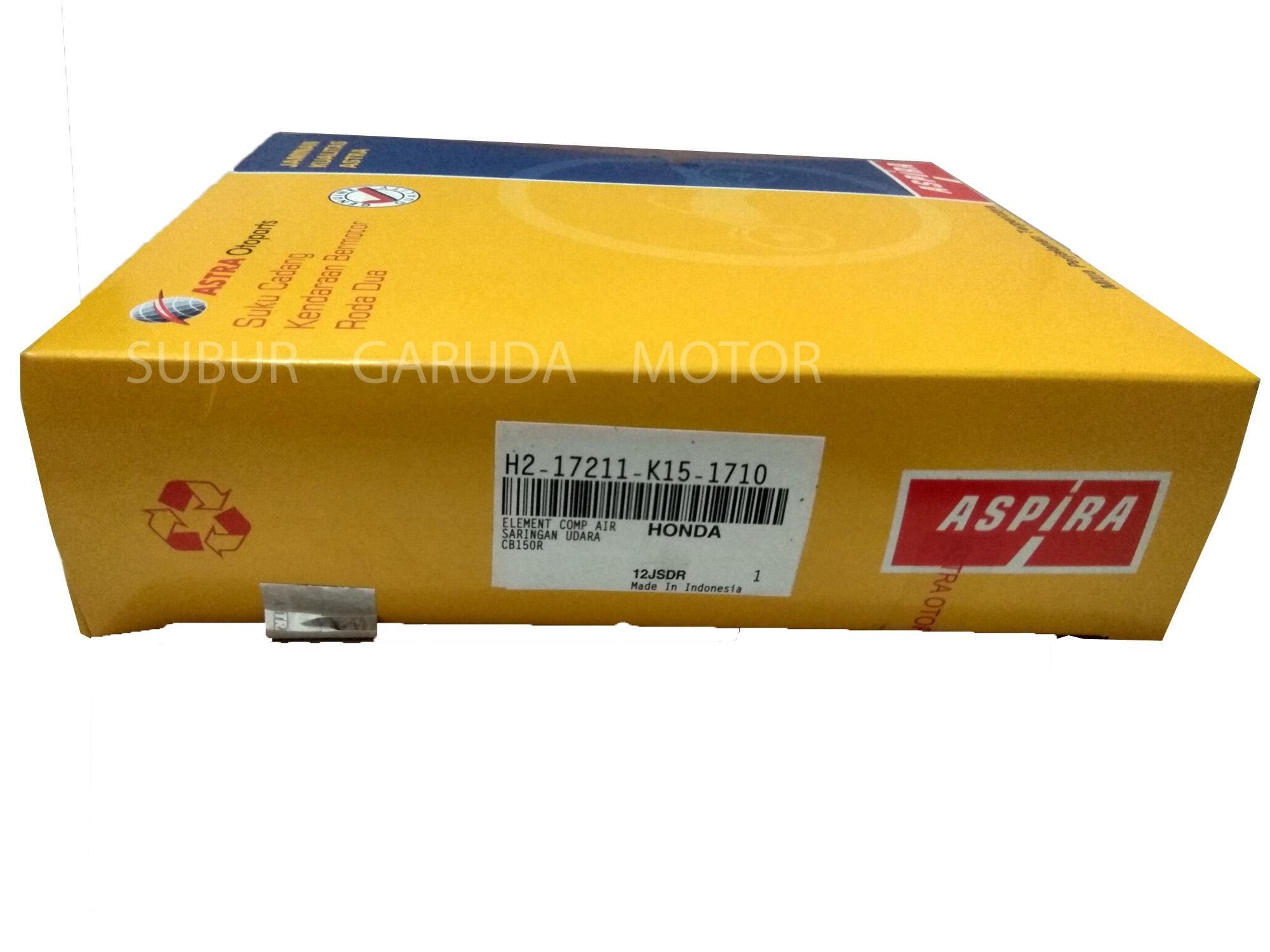 FILTER UDARA CBR 150 CB150R K15 MERK ASPIRA ASTRA OTOPARTS