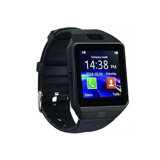 Smartwatch With Camera And Video / Jam Tangan Hp / Jam Ber Kamera / Jam Bisa Telp (Hitam)