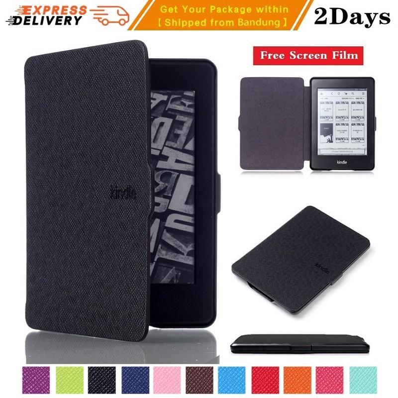 【Free Anti Gores】Kindle Case  Amazon Kindle Paperwhite Tablet Case untuk PW 1/2/3 Kindle Gen 6t