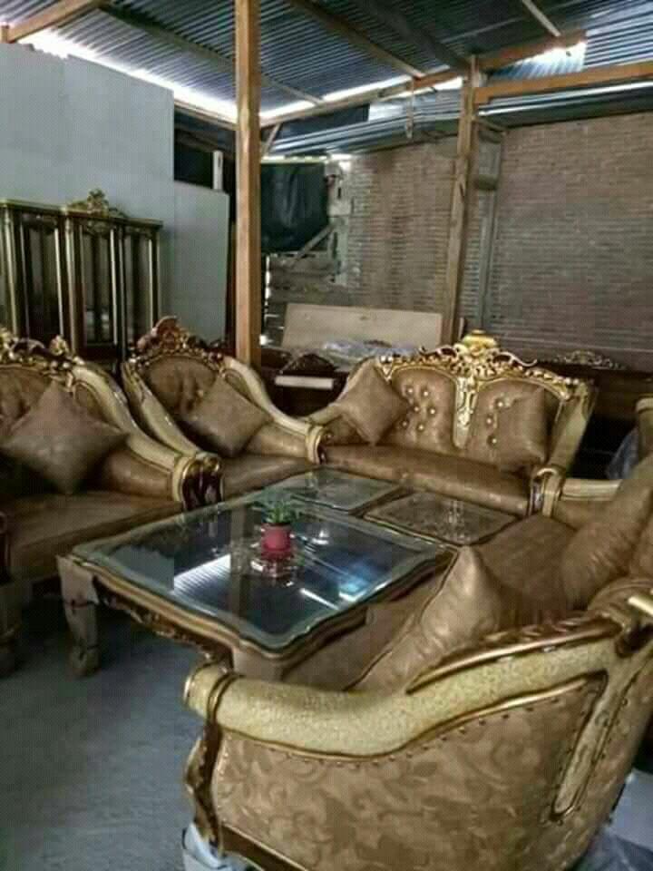 Sofa Set Mewah Peanut