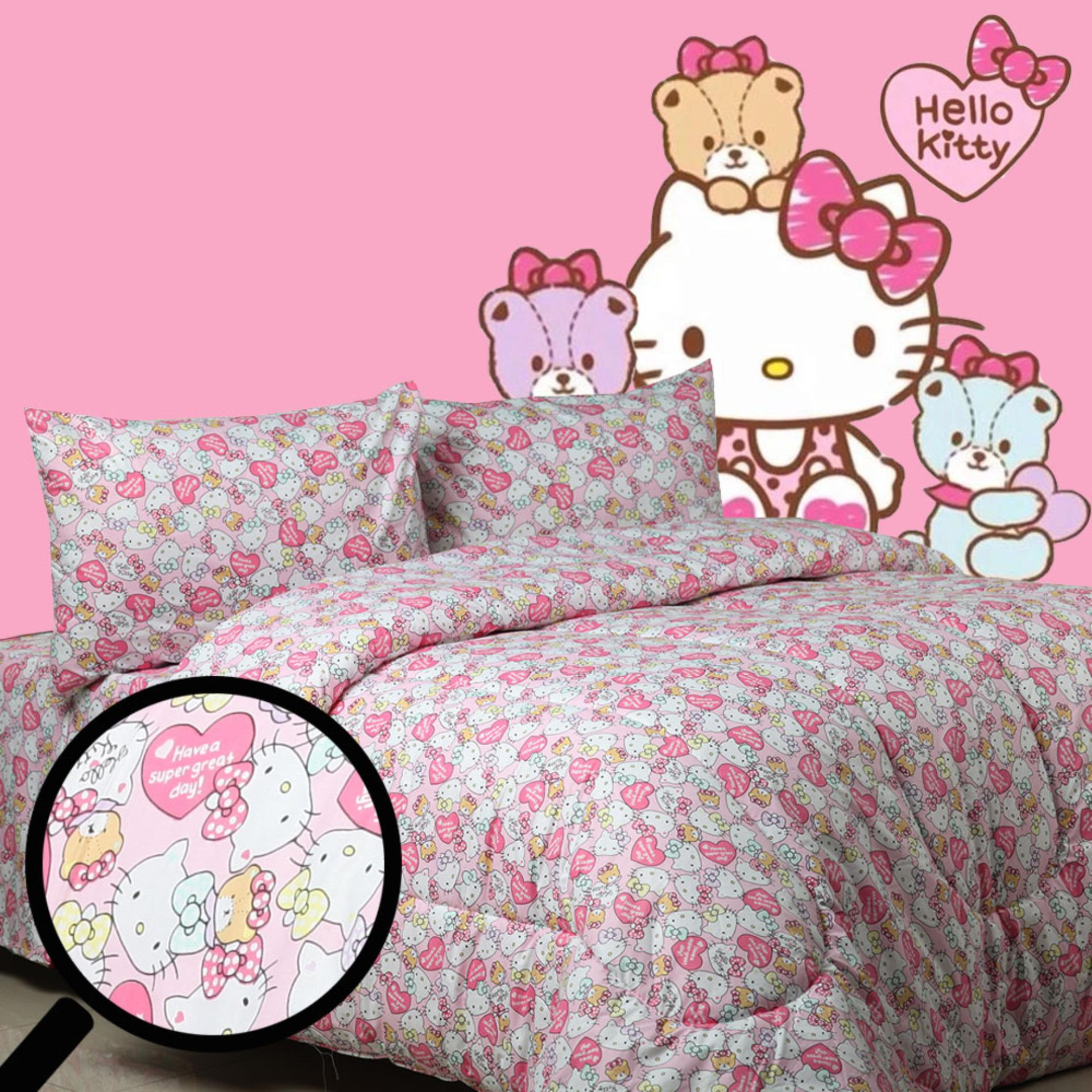 Sierra - Bedcover dan Sprei - Kitty love Pink