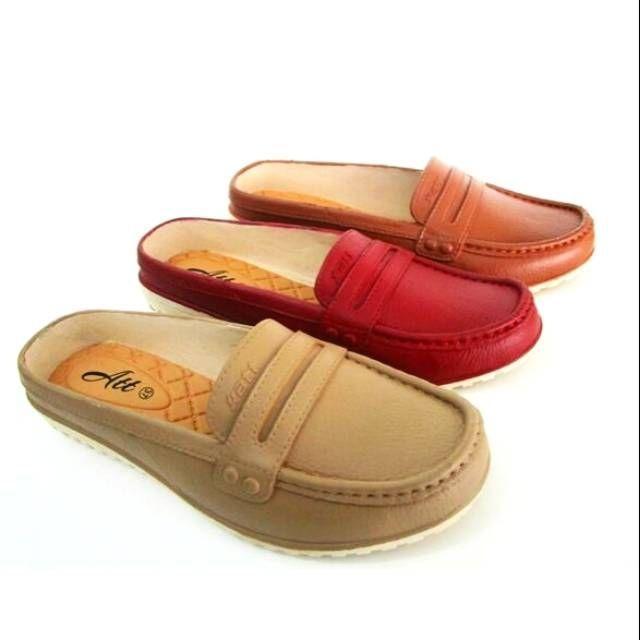 Sepatu Sandal SLOP Wanita 3 Pilihan Warna SlipOn Wanita Selop Murah