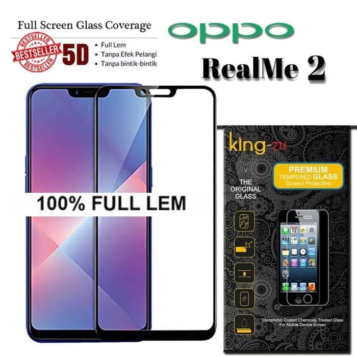 5D Full Glue For OPPO Realme 2 2018 Tempered Glass Full Cover 9H 2.5D Premium
