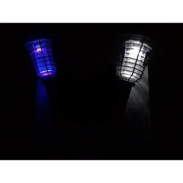 lampu taman / jual Lampu taman tancap Setrum Nyamuk plastik Solar Power tenaga surya