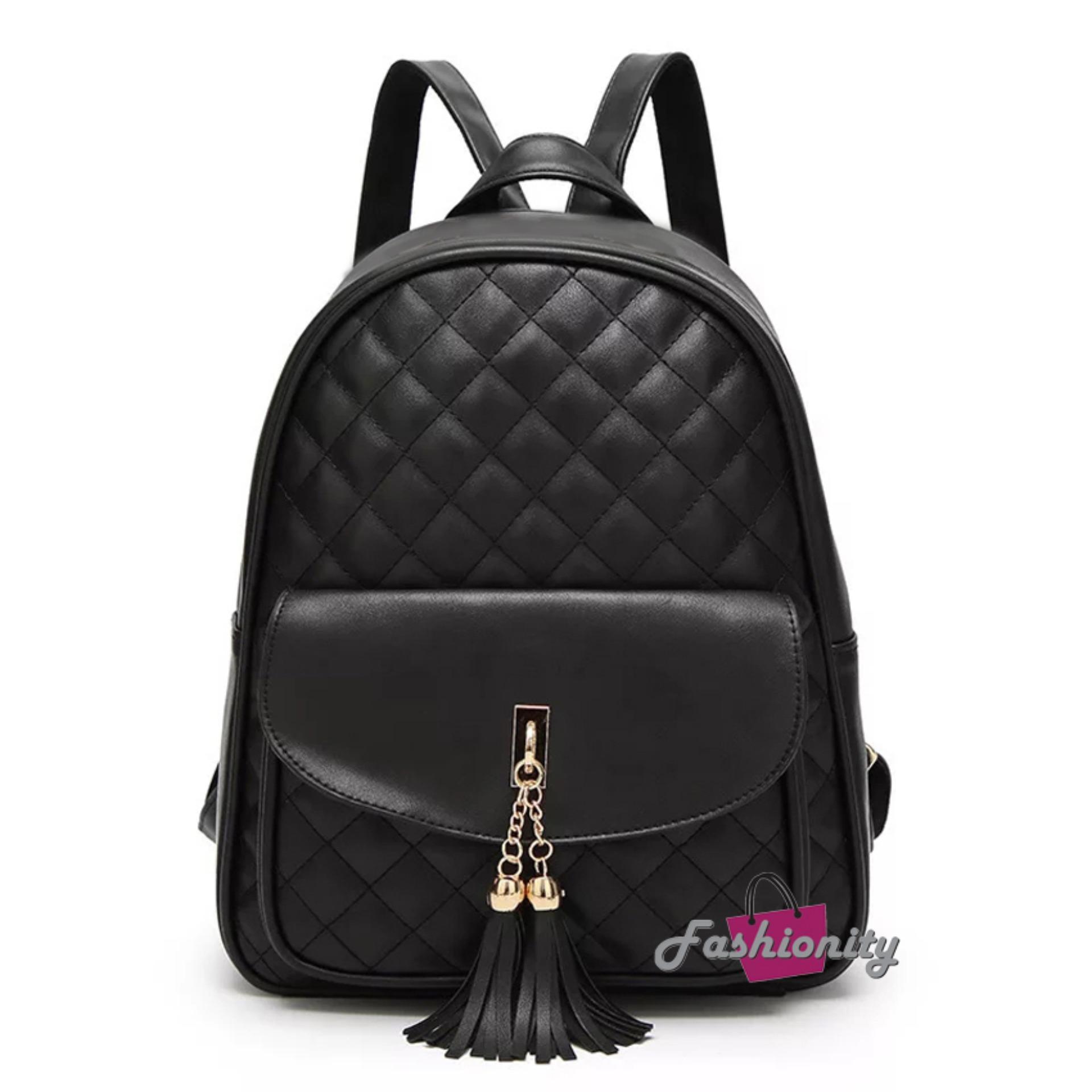 Fashionity Fiona Tassel Backpack - Tas Ransel - Tas Wanita - Korea style - Backpack - Tas Punggung - Tas Murah - Tas Bagus