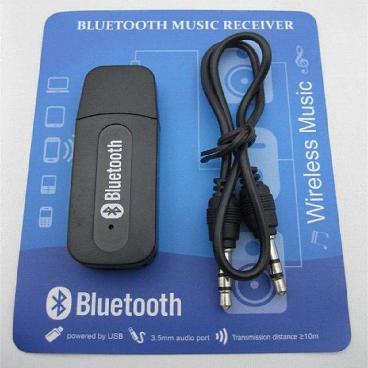 USB Receiver Bluetooth 3.5mm Stereo Audio Music Adapter For Speaker GAS