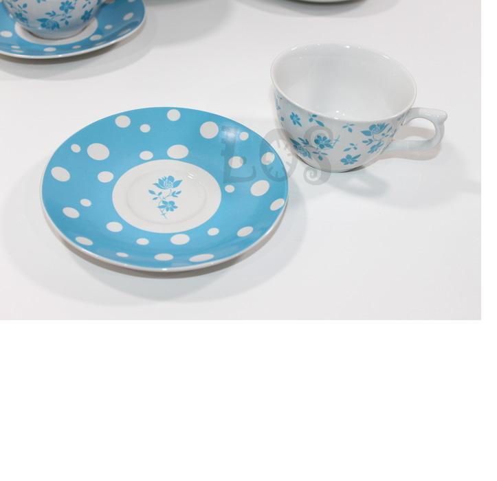 Cangkir Teh-Kopi Keramik KOPIN POLKADOT BIRU (00143.02639)