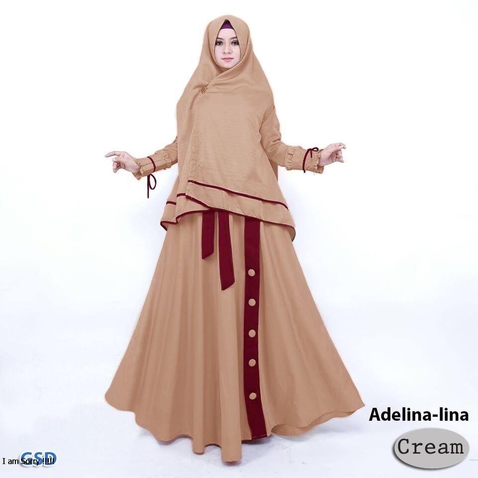 GSD-Baju Wanita / Baju Gamis / Dress Muslim / Baju Syari / Hijab Lina