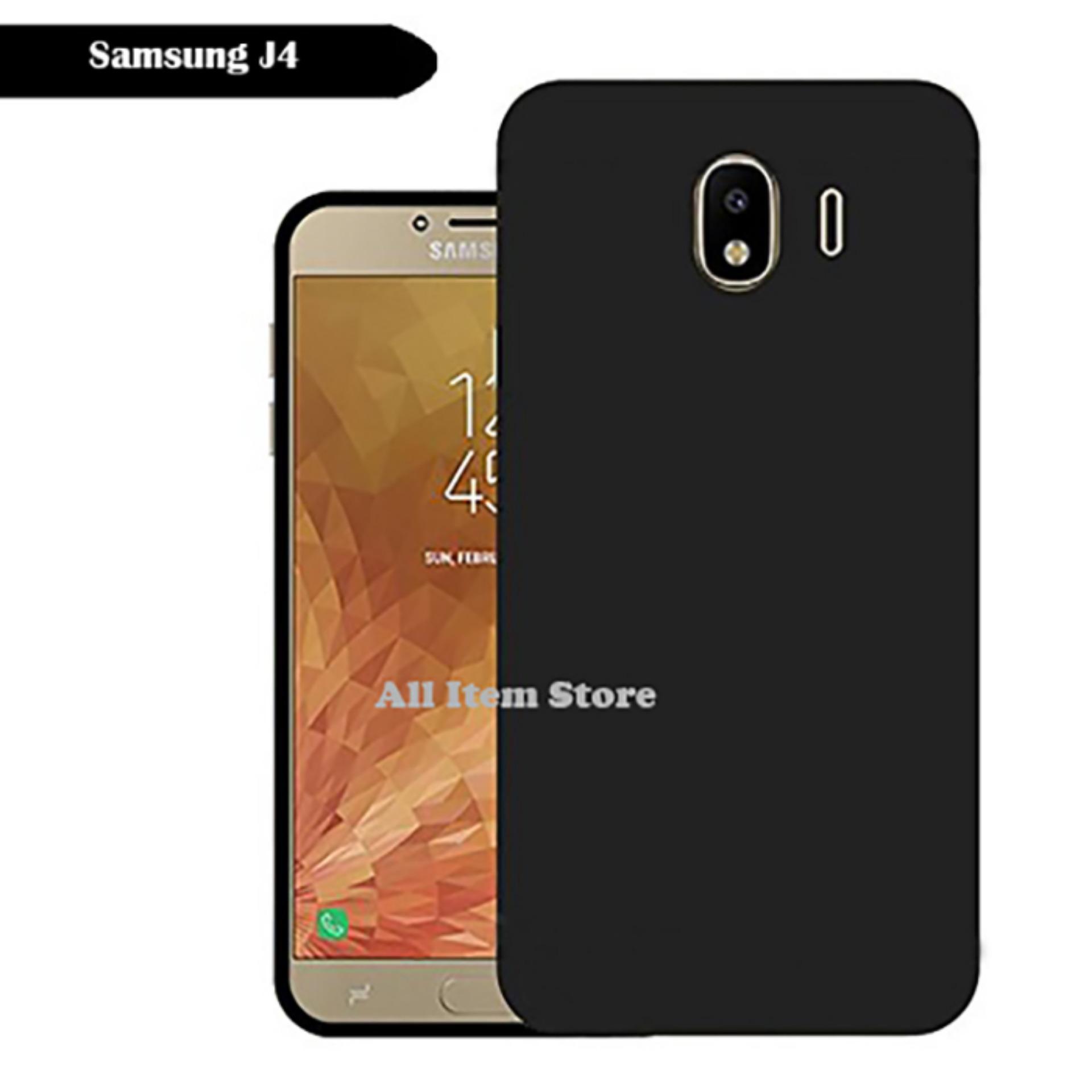 Case Slim Black Matte Samsung Galaxy J4 Baby Skin Softcase Ultra Thin Jelly Silikon Babyskin - Hita