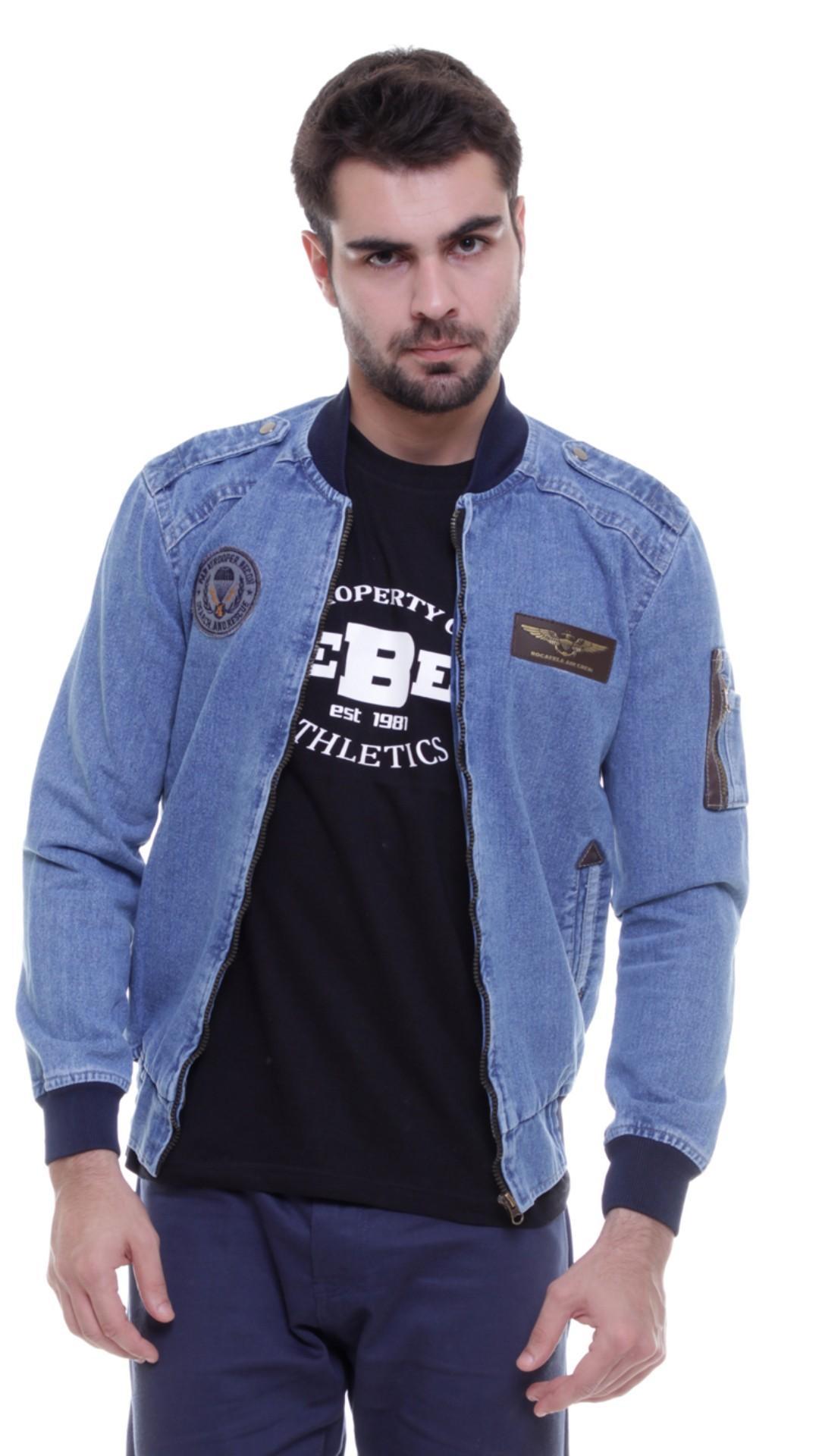 Pale Jeans - jaket jeans pria / jaket jeans bomber pria.