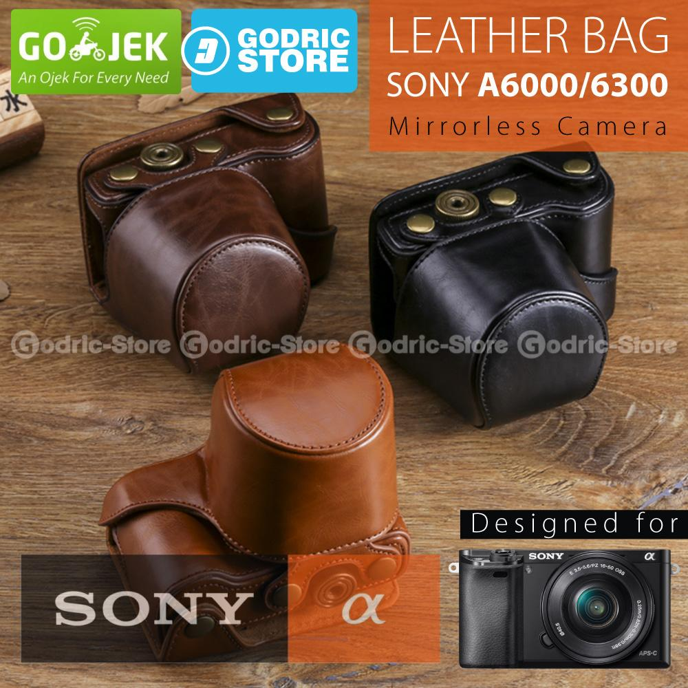 Sony Alpha A6000 / A6300 Leather Bag / Case / Tas Kamera MirrorLess