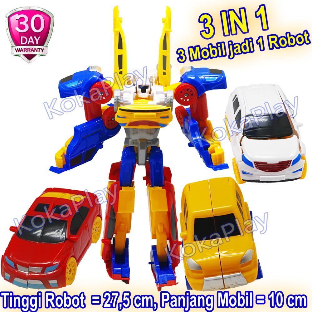 Kokaplay Tobot Titan Series Big 2in1 Dan 3in1 Transformable Robocar Mainan Anak Edukasi Mobil Robot Transformers Berubah Titan 2 Mobil Tritan 3 Mobil Jadi 1 Robot Besar Tanpa Baterai By Kokaplay.