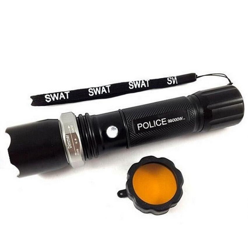 Police Bai Chuan Senter SWAT Police 99000 Watt - Hitam