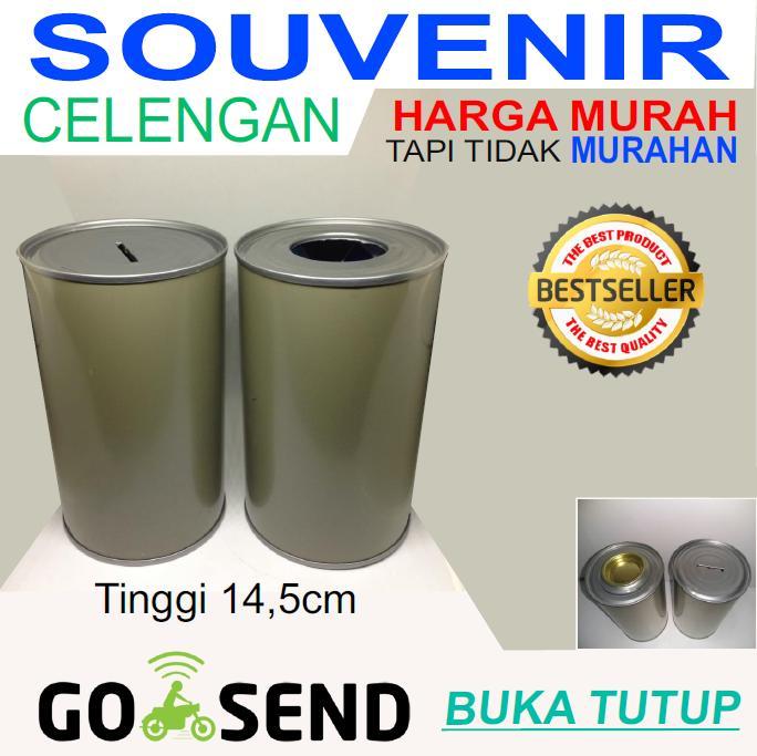 Souvenir Celengan Kaleng Buka-Tutup Polos Murah By Segalaada-Co-Id.