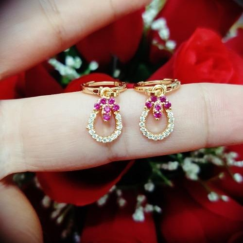 anting cantik mata hari mata xuping gold