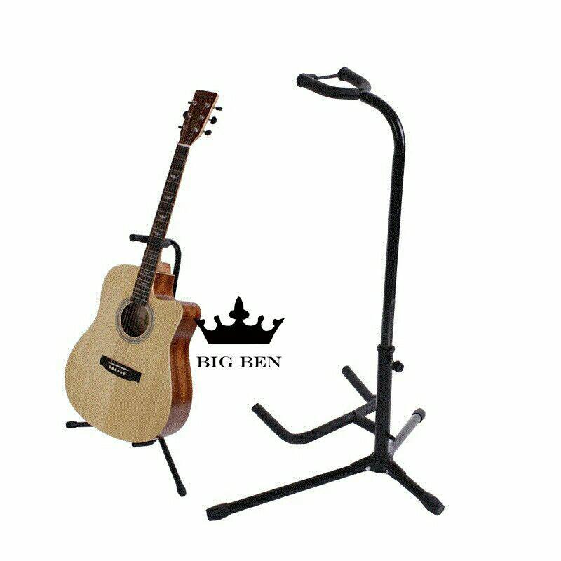 Stand gitar adjustable universal akustik eletrik -Black version