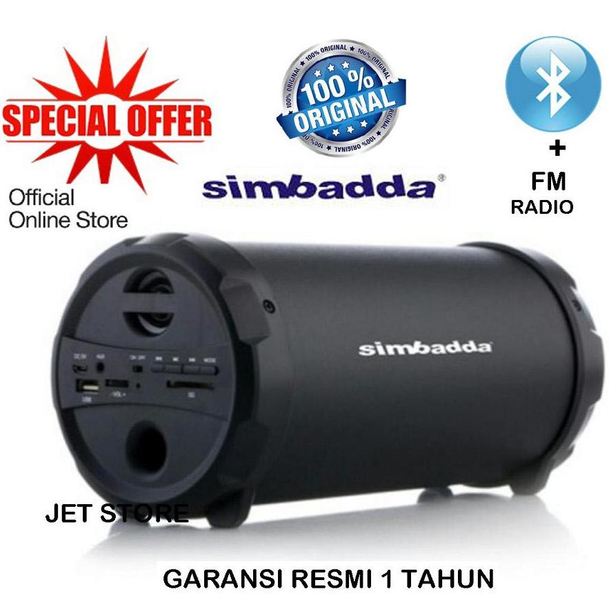 Simbadda Music Player Cst 800n (bluetooth, Usb, Microsdhc/tf , Aux & Radio Fm). By Jet Store.