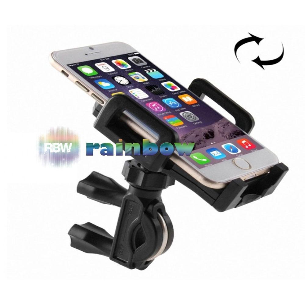 Dudukan Mounting Handphone Mobil Gojek Lazypod Motor Sepeda Bike Mount Holder For Smartphone Rainbow Gps 2 In 1 Dan Bisa Putar 360