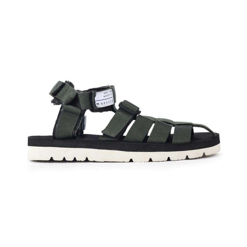 bfbefaafa1 Navara Footwear Sandal Casual Pria Woodley Green Army / Sandal Streetwear  Model Suicoke