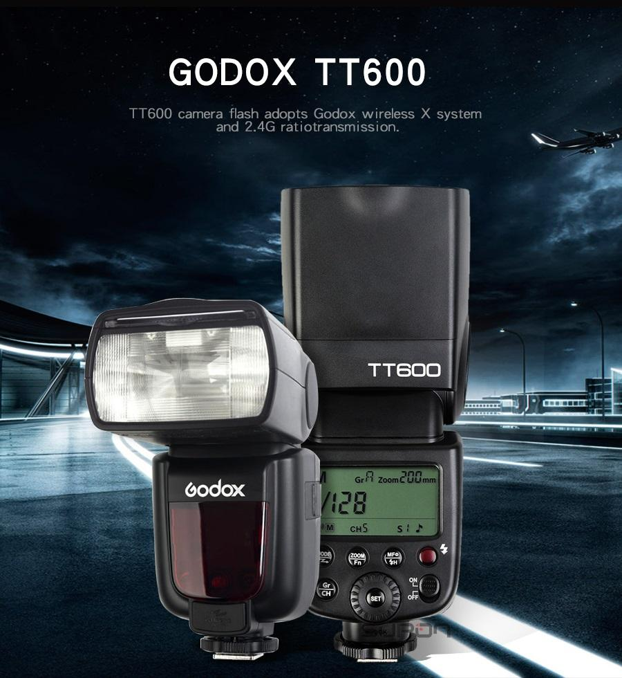Godox TT600 2.4G Wireless Hot Shoe Camera Flashlight Speedlite with LCD Screen for Canon Nikon Sony Pentax Olympus Fujifilm-BLACK