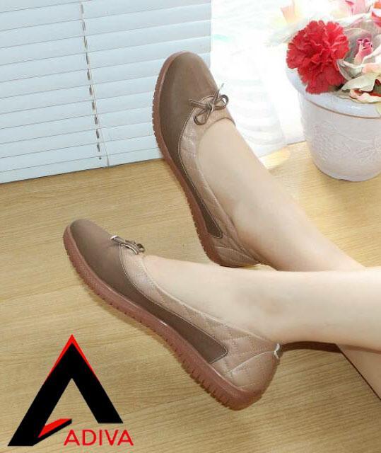 4c92c3231e20 ADIVA Flat Shoes Wanita Doble CH02   Slip On Cewek   Sepatu Wanita Pita  MOCA Lucu