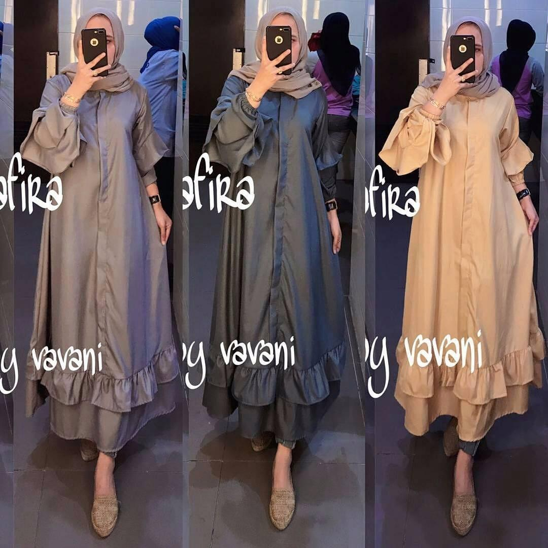 Baju Original Tunik Shafira Tunic Baju Panjang Wanita Modern Atasan Wanita Kerja Casual Baju Kerja Trendy Terbaru 2018