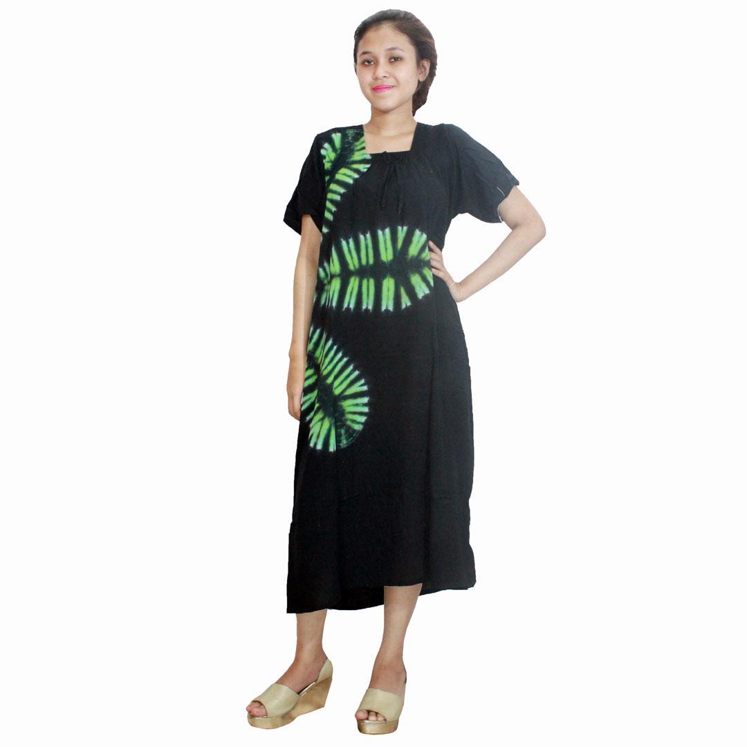 Daster Batik, Daster Lengan Pendek, Baju Tidur, Piyama, Leher Kerut (DPT001-22) Batikalhadi Online