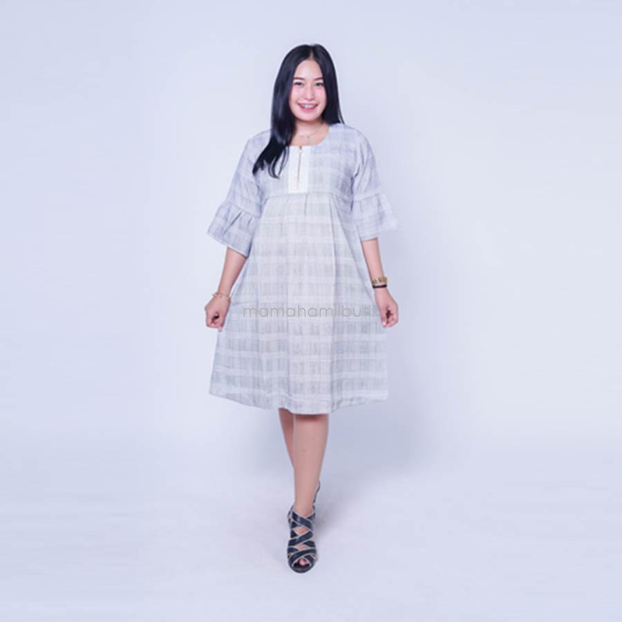 Ning Ayu Baju Hamil Dress Kotak Menyusui Cantik Best Seller - DRO 909 / Dress Hamil Pesta / Dress Hamil Lucu / Dress Hamil Kantor / Dress Hamil Muslim / Dress Hamil Batik / Dress Hamil Modis / Dress Hamil Korea / Dress Hamil Online / Dress Hamil cantik