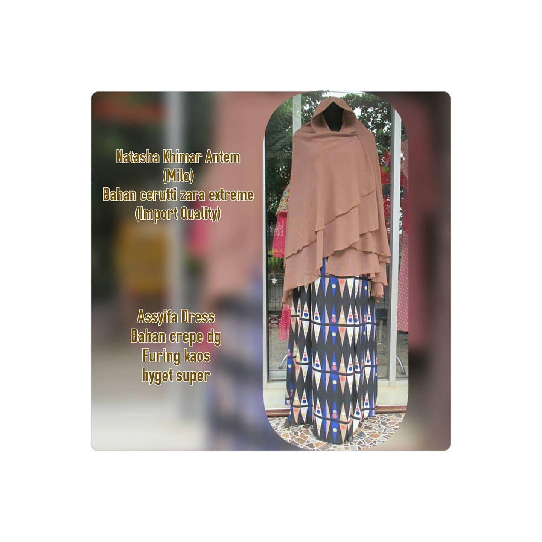 Assyifa Dress & Natasha Khimar by Uwais Hiab