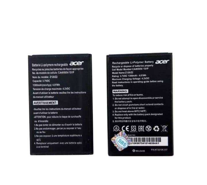 Baterai HP Acer Liquid Z2 Z110 Z120 Original OEM Batre Batrai Battery