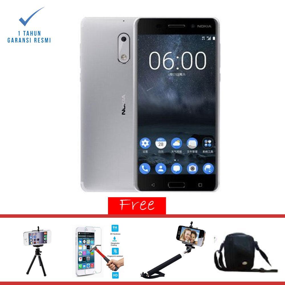 Nokia 6 Smartphone -  [32GB/3GB] Garansi Resmi + Paket Super Hemat