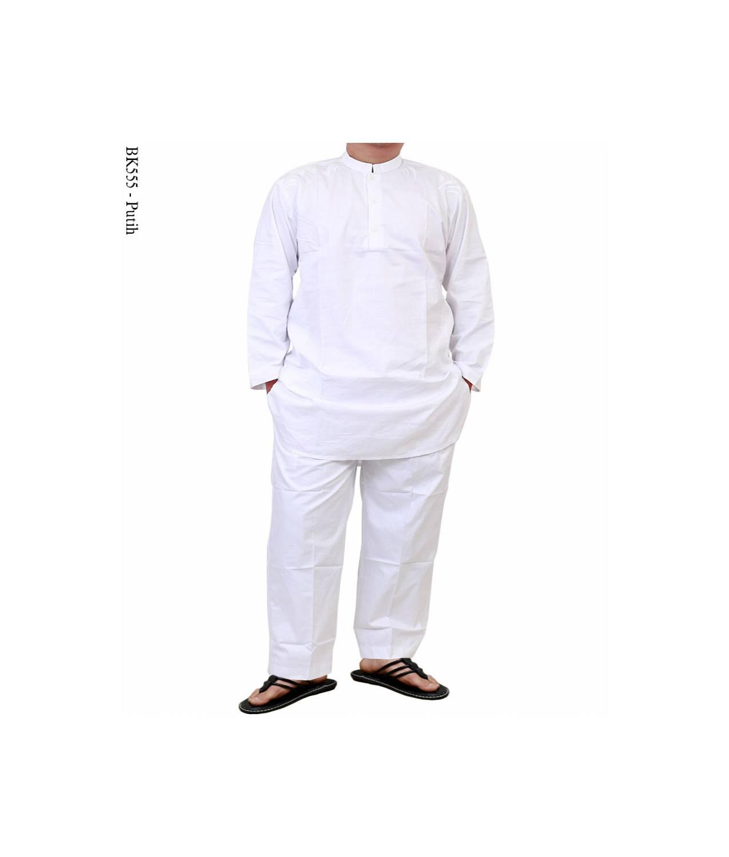 baju koko albatar setelan putih/baju koko pakistan /baju koko setela S