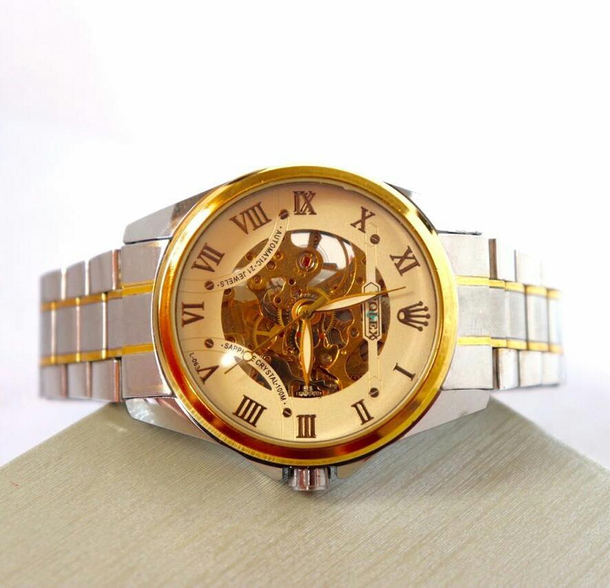 jam tangan rolex otomatis talirante pria wanita