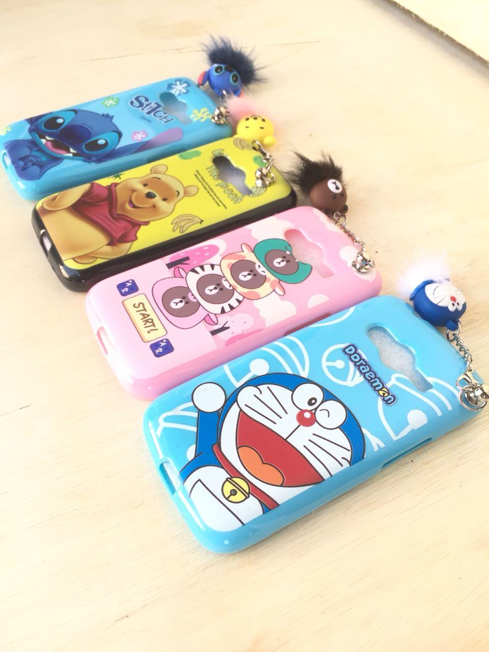 Case/Softcase Karakter Plus Gantungan Boneka Bulu Imut For Samsung Galaxy V / G313 (