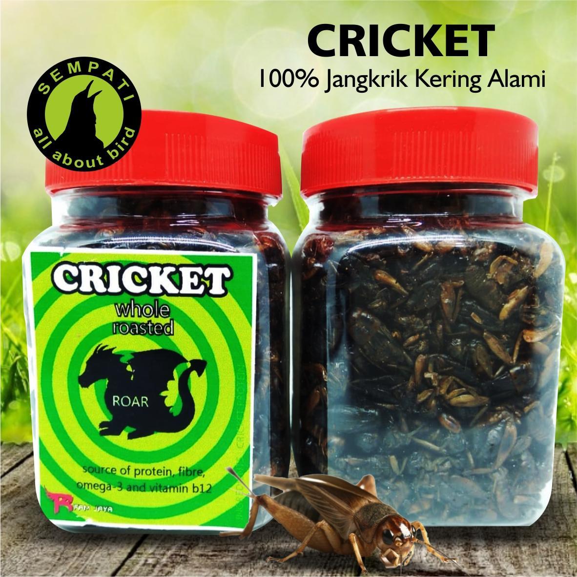 Cricket Jangkrik Kering Kemasan Toples R-Fam Jaya Pakan Burung Anis Pleci Kacer Jalak Murai CRICKETR