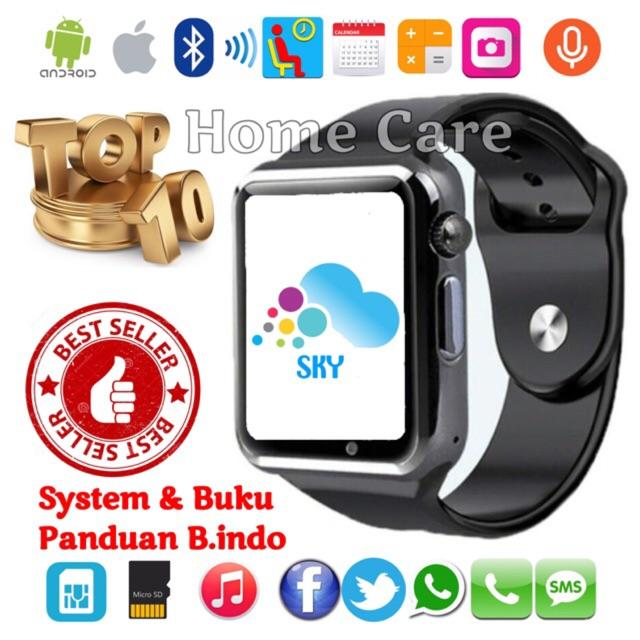 Popularitas Terlaris SKY U10 / A1 Smart Watch Jam Tangan iWatch Full Colour Handphone Touch Screen