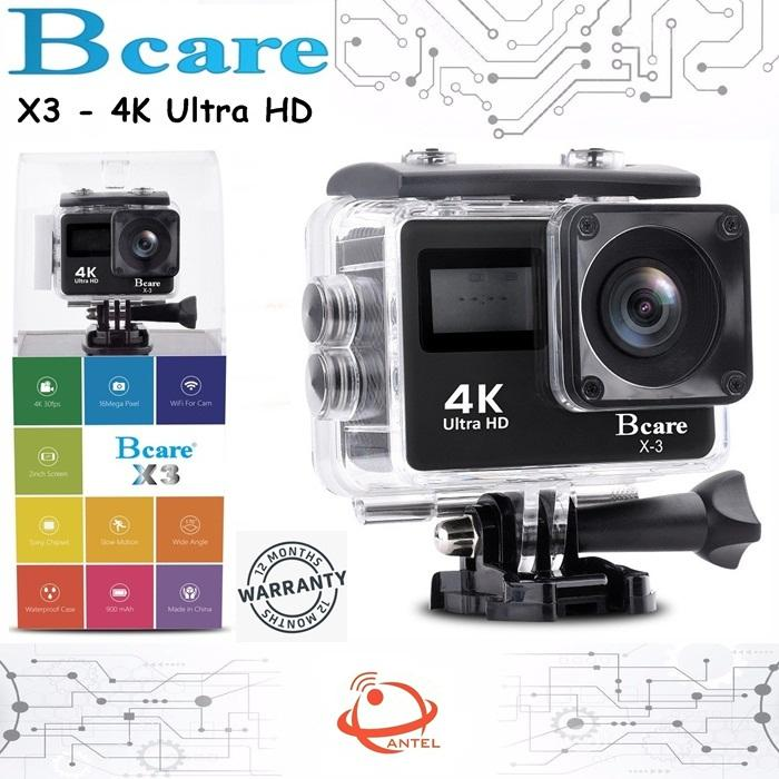 Bcare BCam X-3 Action Camera WiF 16 MP SonySensor 4K Dual Screen layar 2