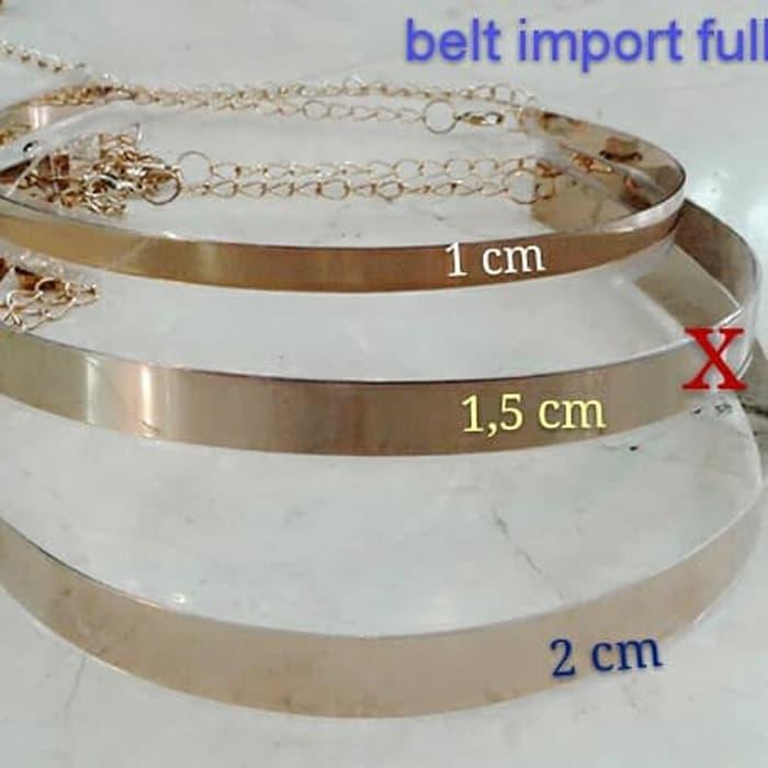 TERLARIS gesper full plat rantai 2 cm ( yg paling bawah )