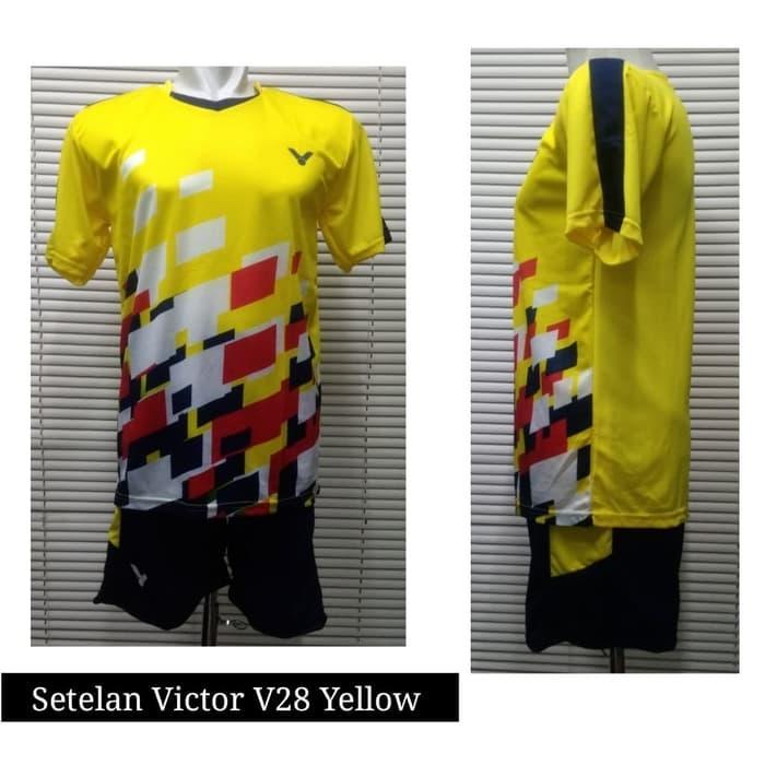 Setelan Kaos Olahraga Bulutangkis / Baju Badminton Victor V28