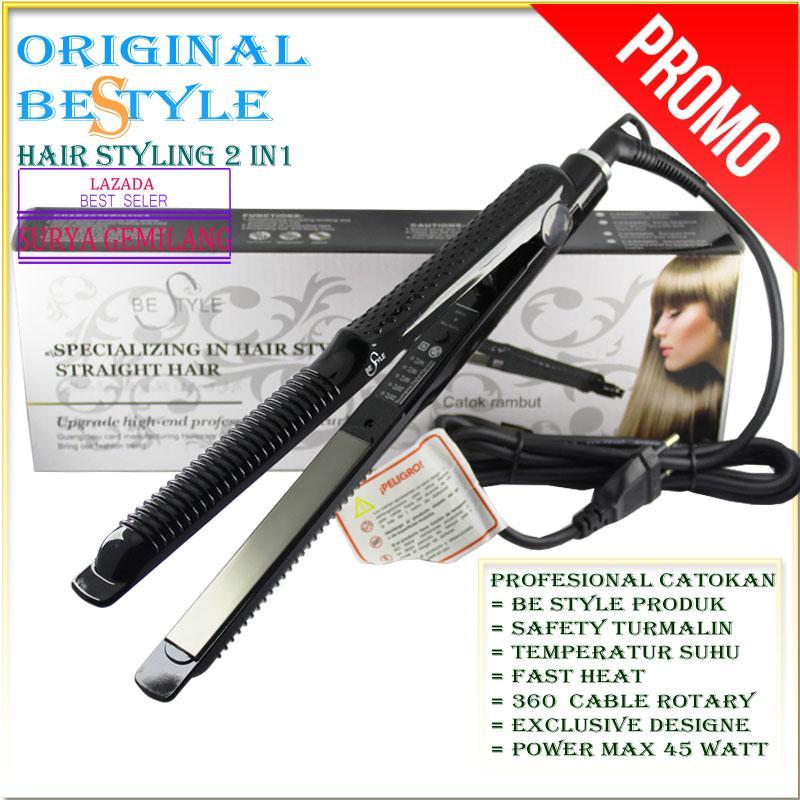 BESTYLE BE-778 Catok rambut 2 in 1 Temperatur control suhu Spesial Salon Profesional